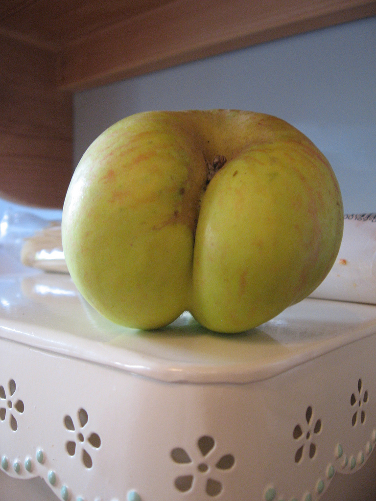 rude apple ass