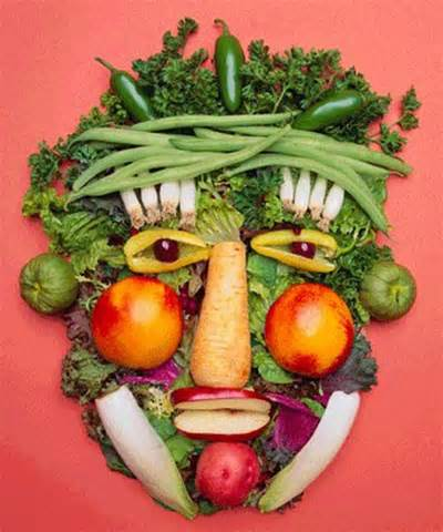 fruit and vegetable face