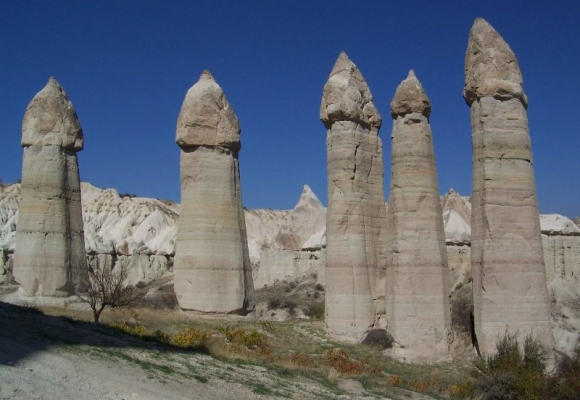 Love Valley in Turkey's Cappadocia region