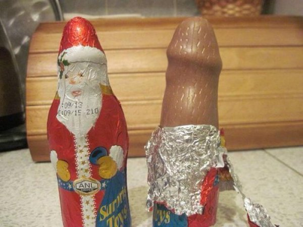 penis-shaped santa claus - the naked truth