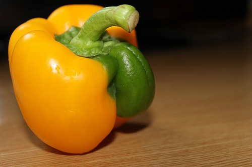 Pepper with green penis